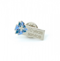 10 Year Service Lapel Pin